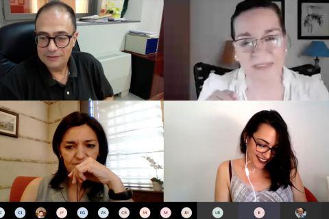 Algunas de las participantes en la última edición del curso, que también fue online.