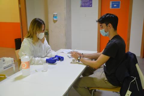 Test serológico realizado en la UPCT.