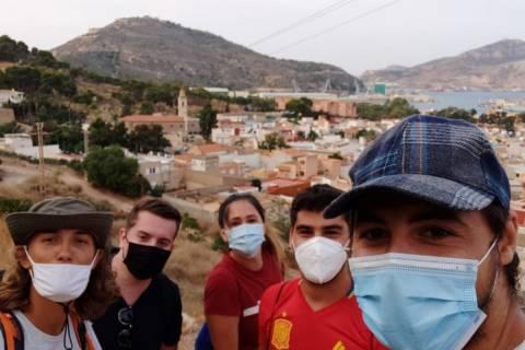 Estudiantes erasmus en una excursión organizada por ESN Cartagena.