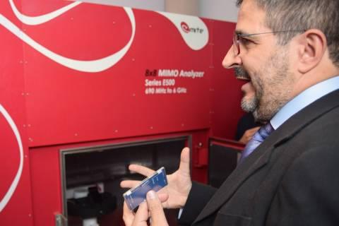 El fundador de EMITE, David Sánchez, durante la inauguración de la nueva sede de la empresa, en 2019.