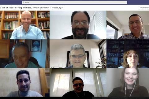Imagen de la reunión virtual con la que dio comienzo el proyecto.