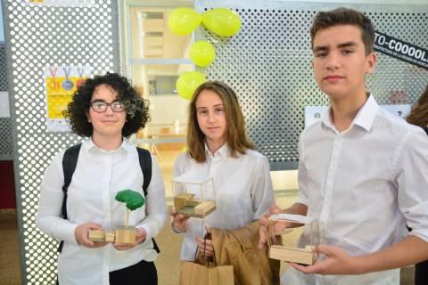 Alumnos del equipo ganador de la II Olimpiada de Arquitectura.