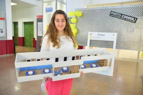 Imagen de archivo de una participante en la final de la Olimpiada de Arquitectura de 2019.