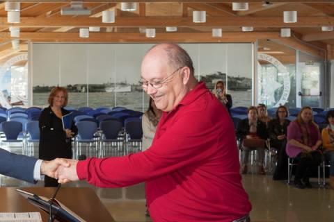 Fernando Prieto Delgado durante el acto de promoción del personal de Administración y Servicios celebrado en febrero de 2020.