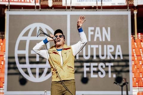 Varry Brava, durante la presentación del Fan Futura, en enero pasado.