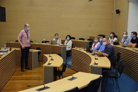 miembros del Steering Commitee, del que forma parte el profesor Rafael Toledo, coordinador general de EUt+ en la UPCT.