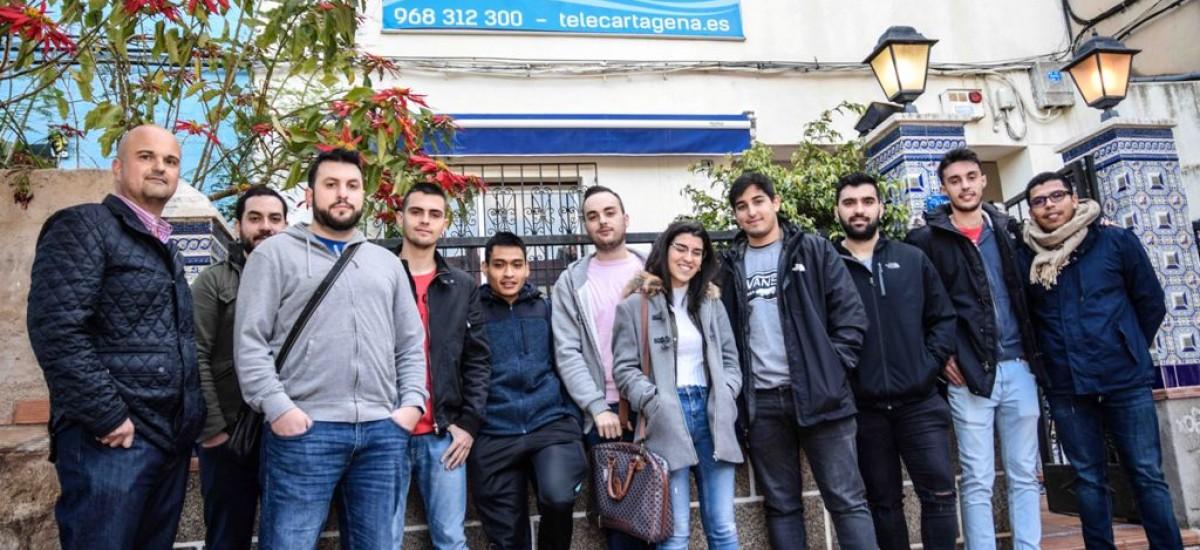 Estudiantes del Máster de Telecomunicación visitan las instalaciones de emisión de TeleCartagena