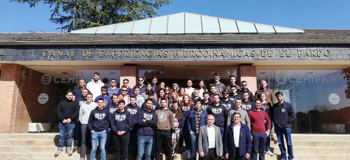 Los alumnos de Navales visitan el canal de experiencias hidrodinámicas de Madrid
