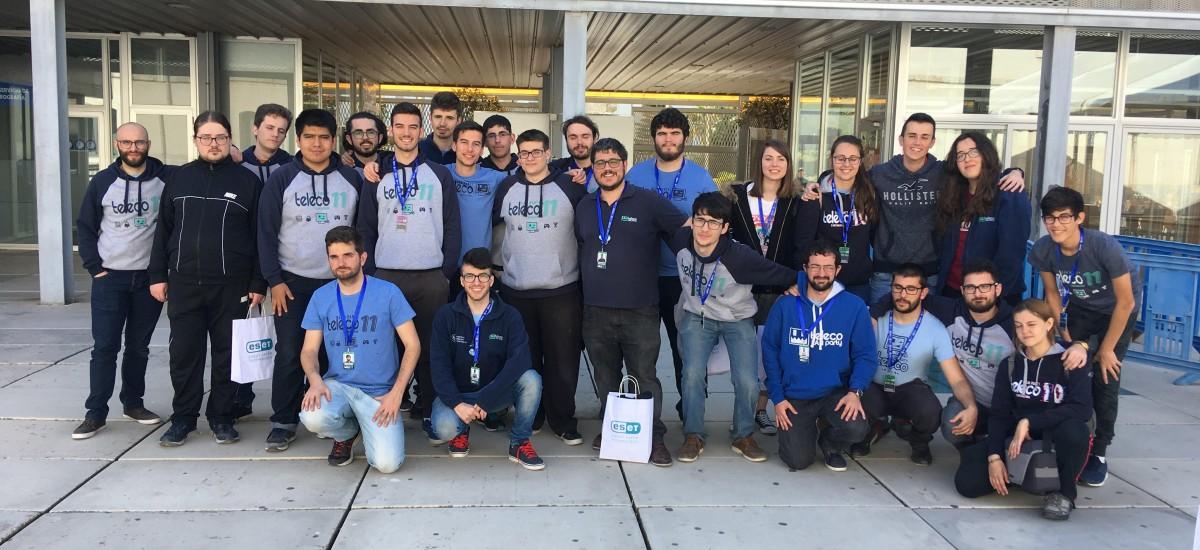 Los estudiantes que organizaron la Teleco LAN Party, satisfechos tras otro «éxito rotundo»