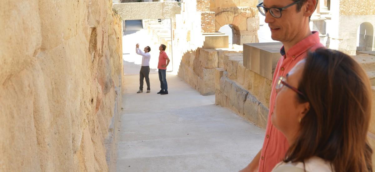 La UPCT desarrolla nuevas técnicas para conservar sillares y pinturas murales romanas