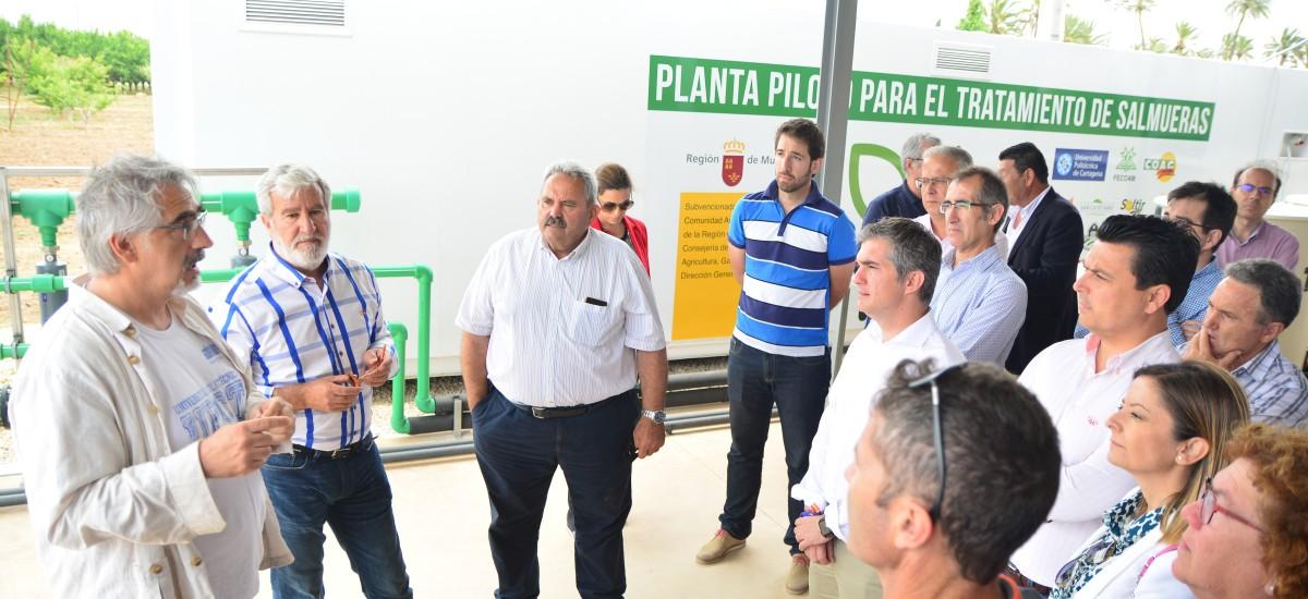 La Cátedra de Agricultura Sostenible de la UPCT estrena planta para concentrar salmuera con ayuda de una caldera de biomasa