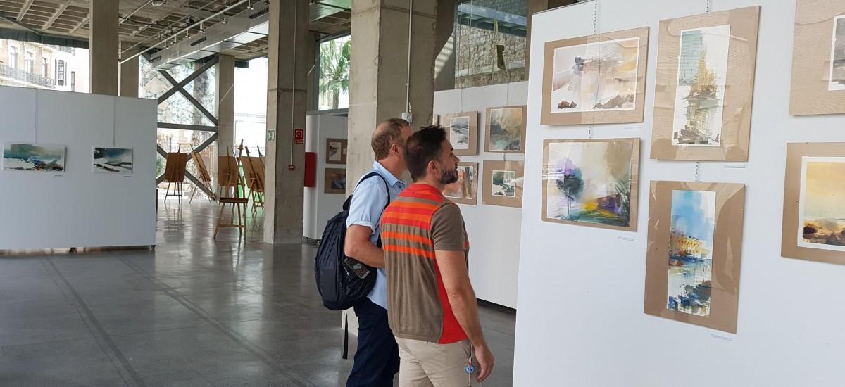 Expuestas en el CIM las obras producidas durante el curso de verano 'Acuarela, Mar y Arquitectura'