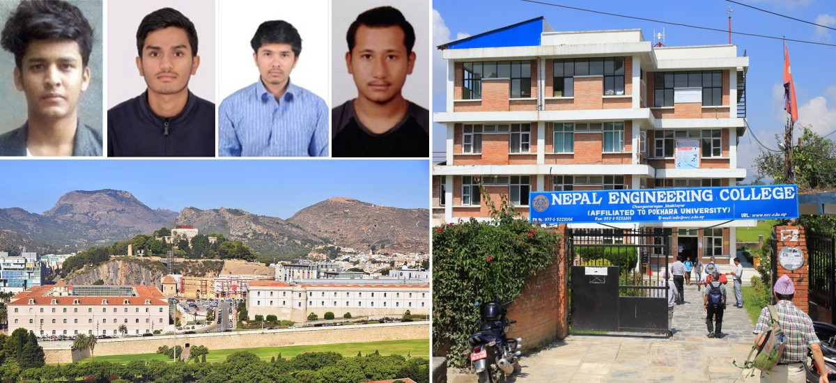 Cuatro estudiantes nepalíes estrenan la colaboración entre la UPCT y el Nepal Engineering College