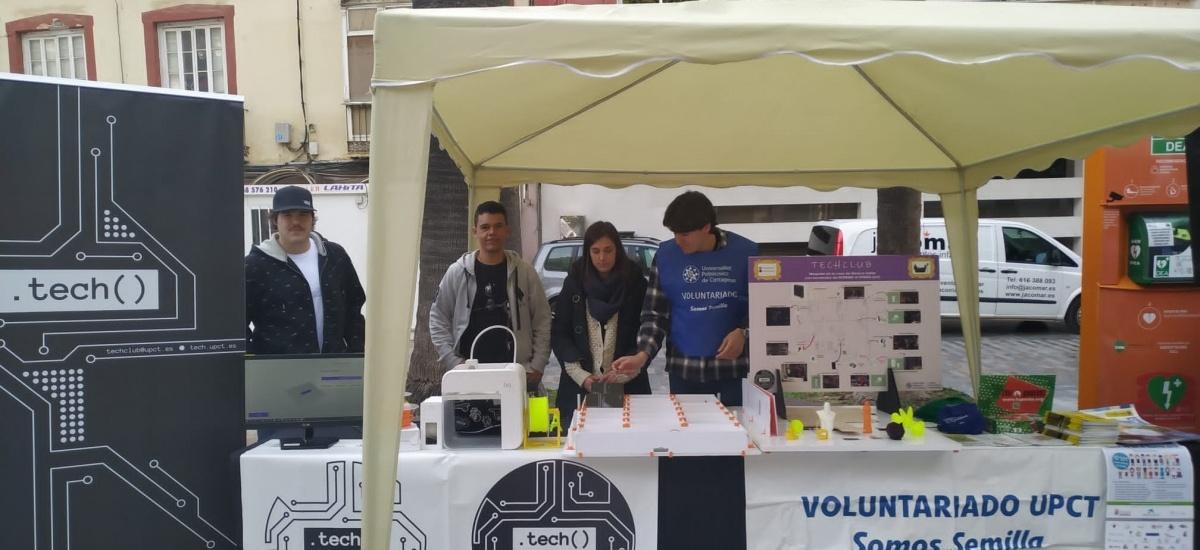 Estudiantes de TechClub llevan Internet de las cosas e impresión 3D a la Plaza de San Francisco