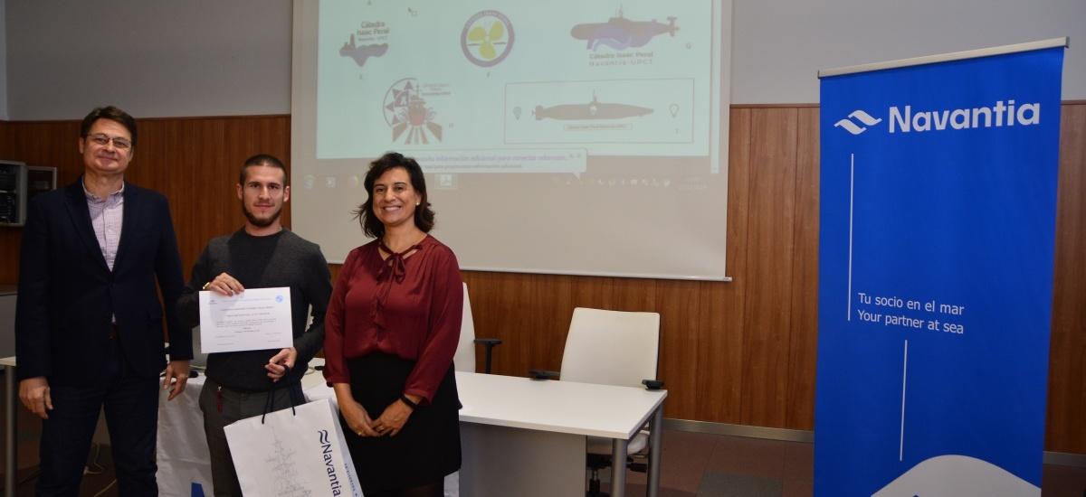 La cátedra de Navantia entrega el premio al concurso de su logo