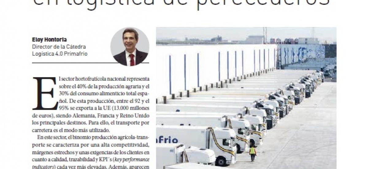 La revista decana en el sector logístico explica los objetivos de la cátedra de Primafrío en la UPCT