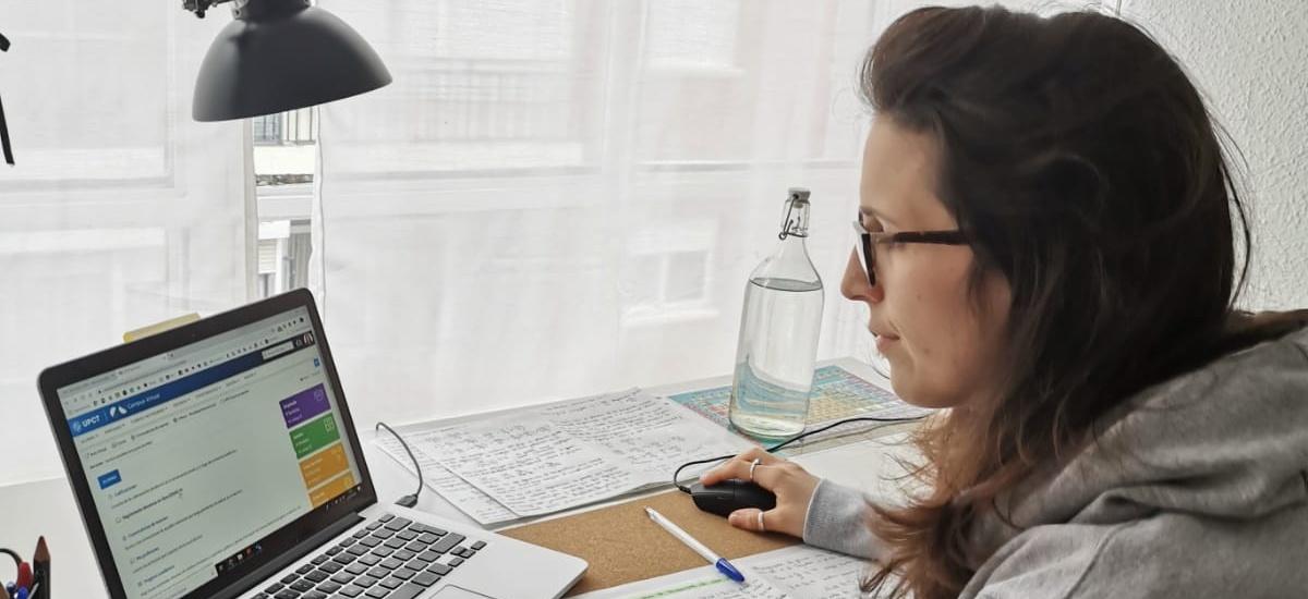 Los estudiantes de la UPCT pueden comprobar el ritmo de la formación que reciben online