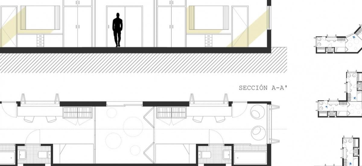 Alumnos de Arquitectura plantean una residencia para Menores No Acompañados en el Barrio de la Concepción