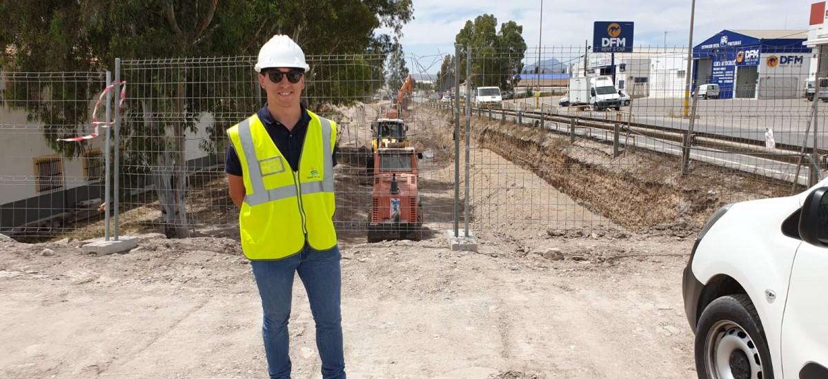 Alejandro Casanova, ingeniero civil por la UPCT: «Trabajo en Aguas de Lorca gracias a la beca de la cátedra Hidrogea»