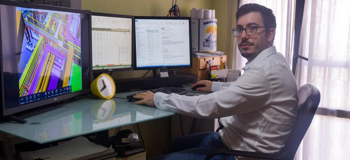 Pablo Murillo: «Mi formación transversal en la UPCT me permite trabajar en todo tipo de equipos»