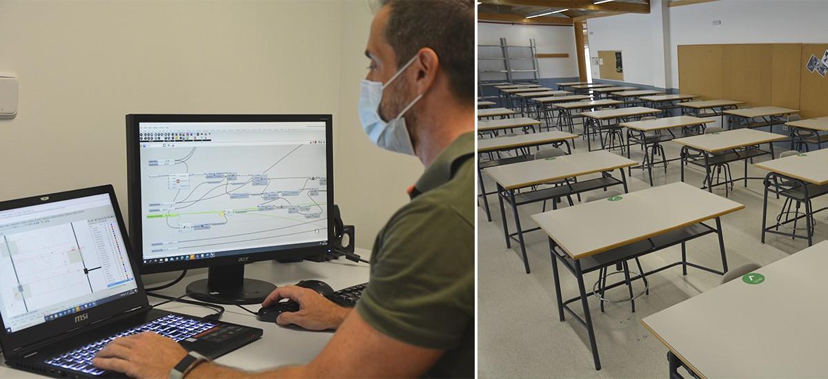 Un algoritmo gráfico optimiza la separación en las aulas para cumplir las medidas anti-COVID