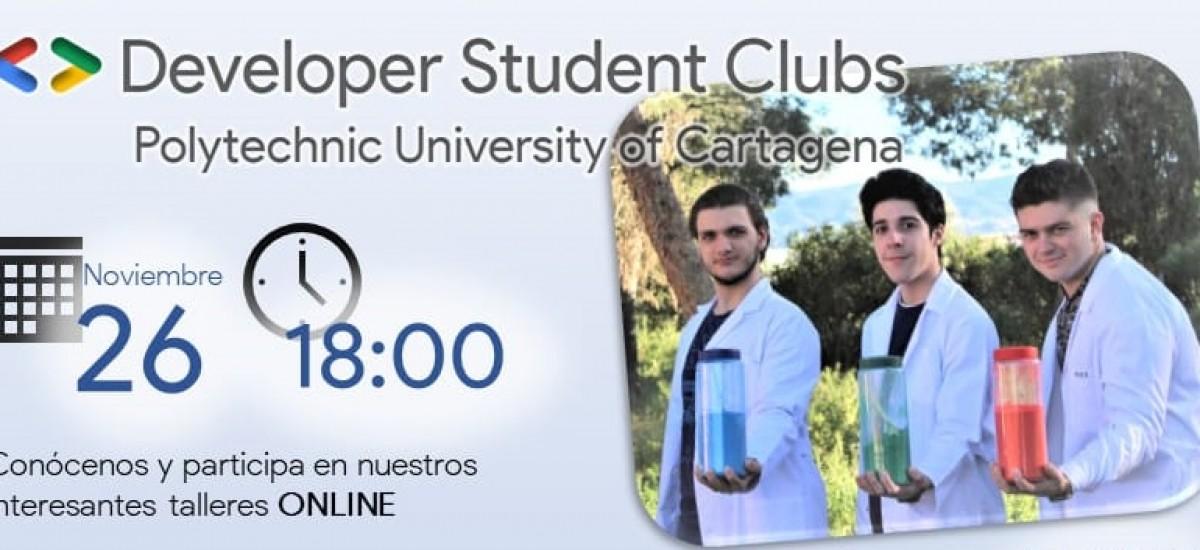 El Developer Student Club de la UPCT organiza esta tarde tres talleres online de robótica, programación y trabajo en equipo