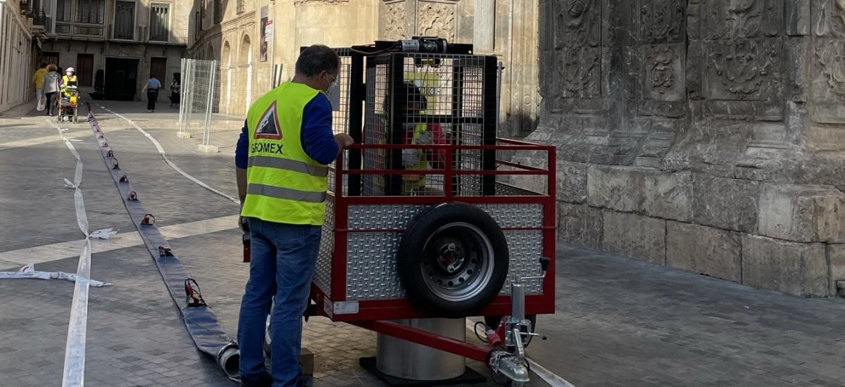 Miden cómo transmitiría una onda sísmica el terreno bajo la Catedral de Murcia