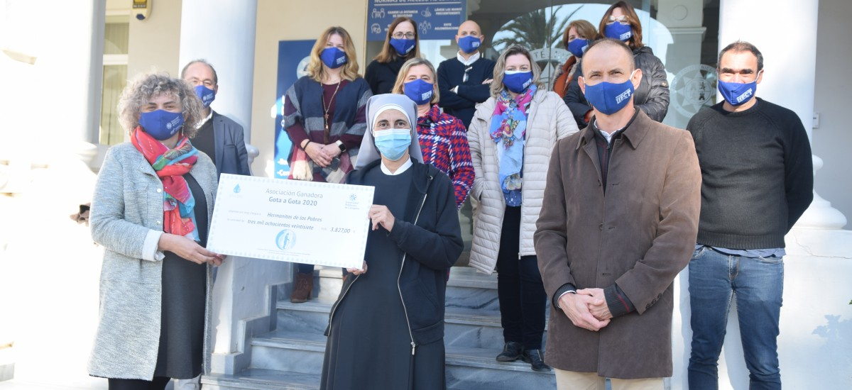Las Hermanitas de los Pobres destinarán a calefacción la donación del 'Gota a gota' de la UPCT