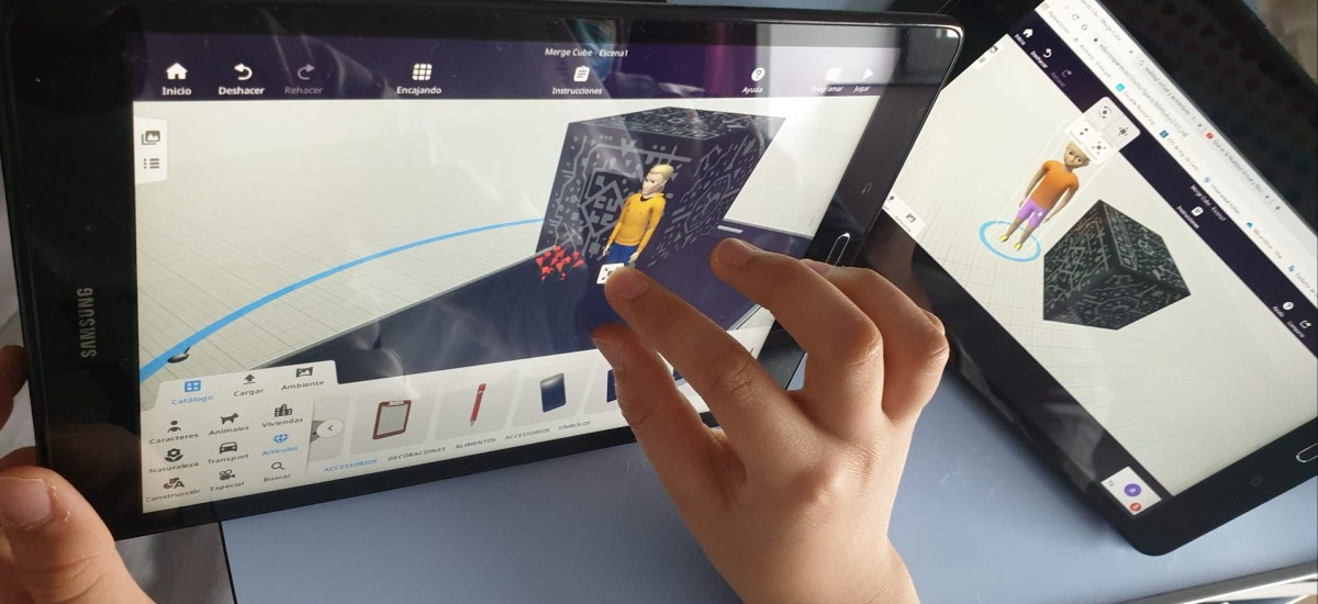 Taller de realidad virtual para los niños del Santa Lucía y La Arrixaca