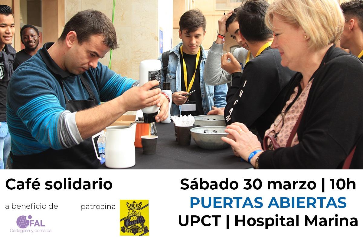 Café solidario en las Puertas Abiertas de la UPCT