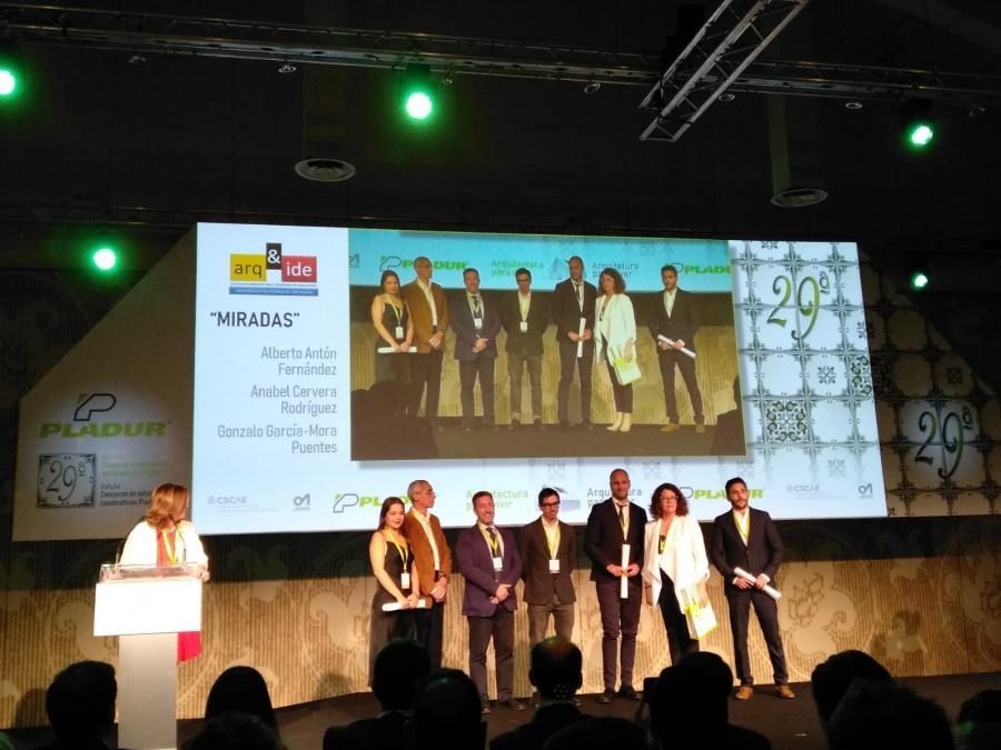 Estudiantes de Arquitectura recogen en Madrid el premio de la fase local del concurso de Soluciones Constructivas Pladur