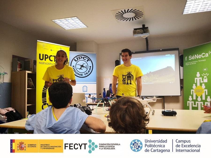 Las aulas hospitalarias de la Región cierran la temporada con 9 talleres de Ingeniosanos la UPCT